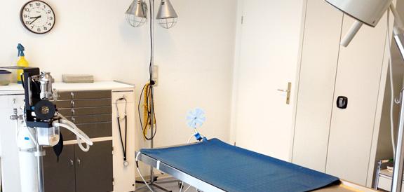 OP Raum in der Tierarztpraxis Persen in Soltau